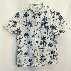 H&M boys button-down Hawaiian shirt size 12-13